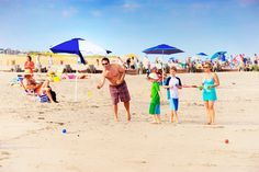 Enjoy fun beach games during your summer vacation! Cape May Point, Ocean City, Jersey Cape, Cape May County, New Jersey