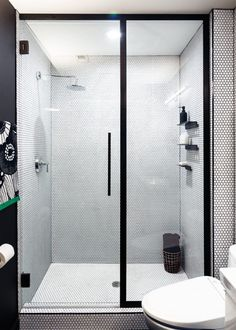 Basic Bathroom Gets a Graphic, Modern Renovation - Design Milk