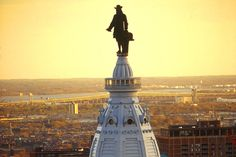 William Penn stand on top of City Hall in Philadelphia (Photo: G. Widman for GPTMC)