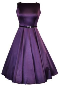 Cadbury Purple Hepburn Dress : Lady Vintage