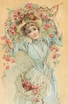 bumble button:1890's Lovely Ladies and little Girls in Dreamy Pastels