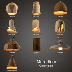 Source wholesale vintage concrete pendant lamp parts for hotel on m.alibaba.com