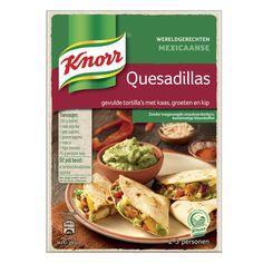 Knorr Wereldgerecht Quesadillas. Verkrijgbaar bij A-supermarkten