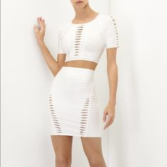 Herve Leger Haile Twist Top, Julianne Twist Skirt These are listed separately in my closet, here it is if you want to buy the set without potentially paying double shipping I assume? Per buyer request! Herve Leger Dresses