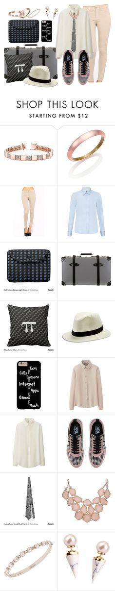 """""""Traveling Geek Black Grey Pink and Pi"""" by cricketdiane ❤ liked on Polyvore featuring Alexis Bittar, John Lewis, Globe-Trotter, Lucky Brand, Uniqlo, Karl Lagerfeld, Marchesa and Gold Philosophy"""