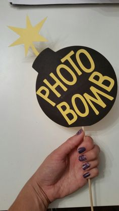 Photo frame prop - super hero party