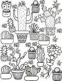 Cactus Coloring Pages Coloring Pages Coloring Pages For Kids