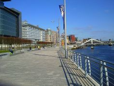 River Clyde Walkway in Glasgow.