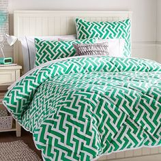 Links A Lot Comforter + Sham, Gumdrop Green #pbteen