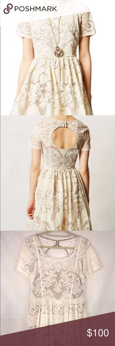 Plenty by Tracy Reese Lace Dress Ivory Size 12 Worn once for engagement photos then dry cleaned. Plenty by Tracy Reese Dresses Midi