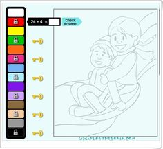 """Winter coloring fun!"" (Juego de divisiones de invierno) Map, Maths Area, Locks, Math Games, Teaching Resources, Location Map, Maps"