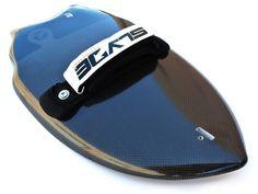 Carbon Black Wedge Handboard For Bodysurfing With Gopro Attachment