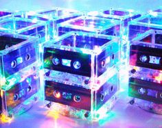 80s Party 90s Party Prom Rock n Roll Music Theme Wedding 10 Party Lights MixTape Lighted Centerpiece Lamps