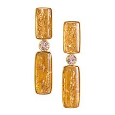 Imperial Topaz Pink Tourmaline Golden Light Earrings