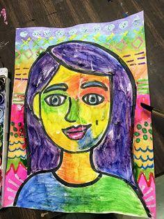 portrait art Elements of the Art Room: Colorful grade Self Portraits Color Art Lessons, Art Lessons For Kids, Art Lessons Elementary, Art Education Projects, Art Projects, Portraits For Kids, Self Portrait Art, Art Rubric, 5th Grade Art