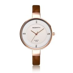 e36e00615b2 Just arrived SMEETO Fashion Quartz Watch Women Sale Luxury Sexy Diamonds  decoration Genuine Leather coffee color
