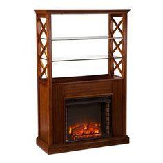 Boston Loft Furnishings 40-in W 5,000-BTU Oak Saddle MDF LED Electric Fireplace…