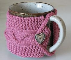 country cables mug cozy pattern