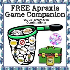 FREE apraxia game companions designed to be used with commercial fishing games.