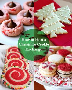 Tips for hosting a Christmas cookie exchange! She also has the idea of a Christmas ornament exchange.