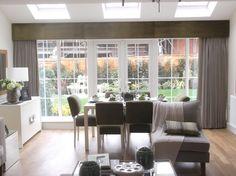 Full Length Curtains with a Pelmet