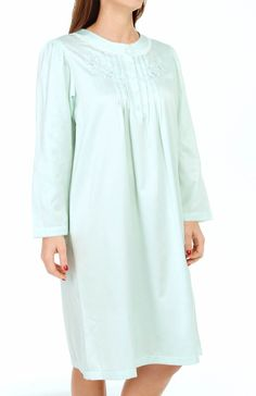 Miss Elaine Brushed Back Satin Short Gown 256103 - Miss Elaine Sleepwear  visit mesleepboutique.com adadb22c5
