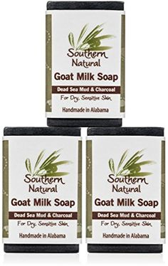 Dead Sea Mud Soap Bars With Activated Charcoal For Acne Psoriasis Eczema 100 Natural Made with Goat Milk Essential Oils Face Soap or Body Soap For Men Women Teens 3 Bar Pack Bars ** Check this awesome product by going to the link at the image. Organic Face Cream, Organic Body Wash, Face Soap, Body Soap, Organic Shampoo, Organic Soap, Face Scrub Homemade, Homemade Skin Care, Homemade Gifts For Men