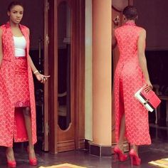 Getting modern African dress styles is a bit of a drag, so we sorted the best collection of the most fashionable African wear in the world. African Dresses For Women, African Print Dresses, African Attire, African Wear, African Fashion Dresses, African Women, African Prints, Ankara Fashion, African Style