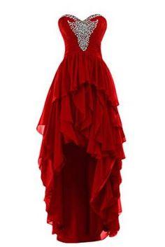 Sunvary 2015 High Low Ruffled Prom Evening Dresses Chiffon Bridesmaid Dress