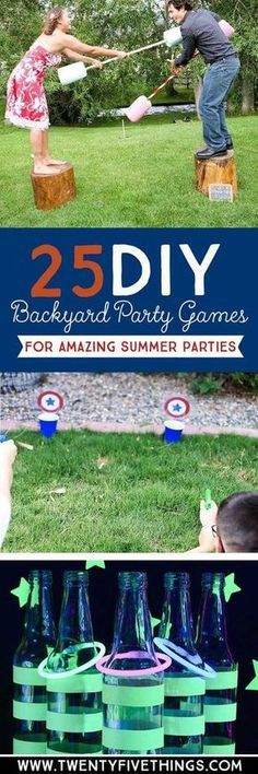 Use these DIY backyard party ideas to plan your summer parties for 4th of July, Memorial Day, birthdays and more!