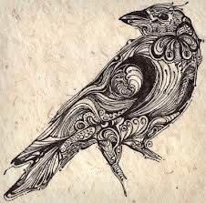 Raven Tattoo design that's very cool!