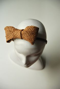 Straw Bow Headband Dawn how can I make this!