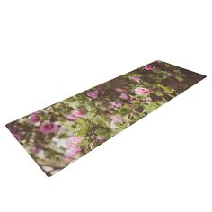 "Ann Barnes ""Lush"" Green Pink Yoga Mat"