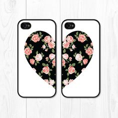 iPhone 6 Case iPhone 5 Case Besties Floral Phone Case by fieldtrip