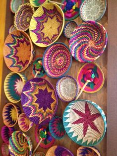 Beautiful Mexican Art Basket display at restaurant - Margarita's Grill in Orlando.