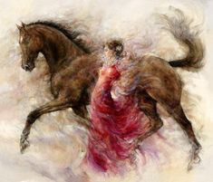 Gary Benfield 1965   English prolific painter   The Horses