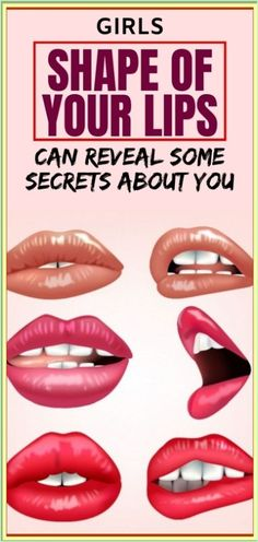 Girls, Shape of Your Lips Can Reveal Some Secrets About You Herbal Remedies, Health Remedies, Natural Remedies, Herbal Cure, Cough Remedies, Arthritis Remedies, Health Facts, Health Tips, Health Care