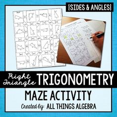 Trigonometry (SOH CAH TOA) MazeStudents will practice finding missing side and angle measures in triangles using the sine, cosine, and tangent ratios. They use their answers to navigate through the maze.  All answers are rounded to the nearest tenth.  Answer key is included.This purchase is for one teacher only.