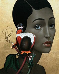 "Slava Fokk-""Wild Flower""40x50cm, oil on canvas 2015"