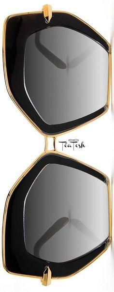 ❈Téa Tosh❈ KREWE, Octavia Geometric Sunglasses, Black #krewe #teatosh
