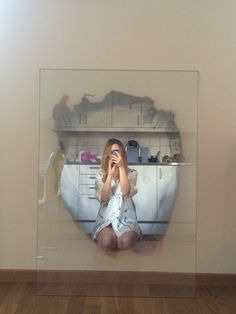 This mirror from Jenny Nordberg is everything! And it's mine. Multifunctional Furniture, Unique Furniture, Furniture Design, Mirror Artwork, Mirror Painting, Unique Mirrors, Diy Home Decor, Room Decor, Interior Inspiration