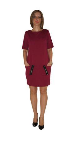 r+38+Sukienka++Bordo+Czarne++Zamki+w+HeWoj+na+DaWanda.com