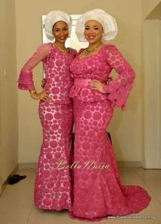 Pink and White Aso Ebi