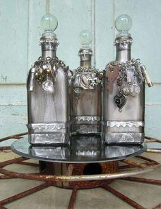 3 altered bottles