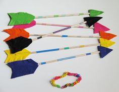 DIY flechas de indios, taller de CreaCtividad abril