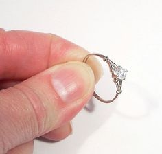 Vintage Cubic Zirconia Engagement Ring / Vintage by NEcharm, $19.99
