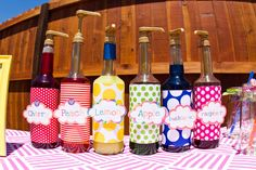 Drink Station at a Rainbow Party #rainbowparty #drinks