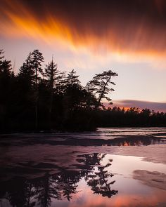 Somes Pond Sunset - Mount Desert, Maine