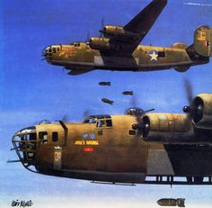B-24D Liberator 'Jerk's Natural', 93rd. BG, Lybia, August 1943, by Iain Wyllie
