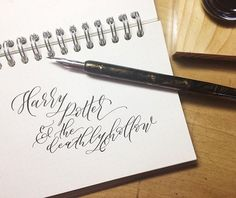 Harry Potter calligraphy